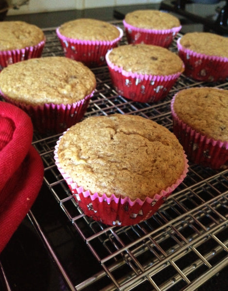 gluten free vegan banana chocolate muffins from natural maker mom at satsuma designs