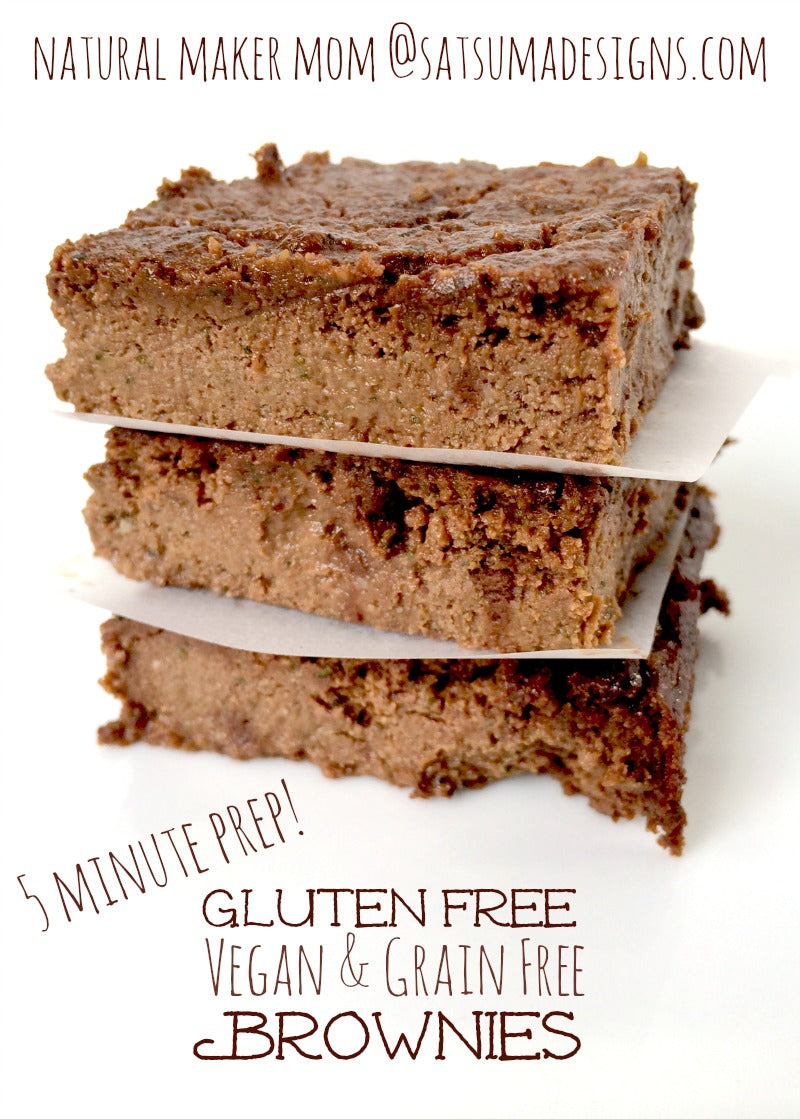 gluten free vegan grain free paleo brownies