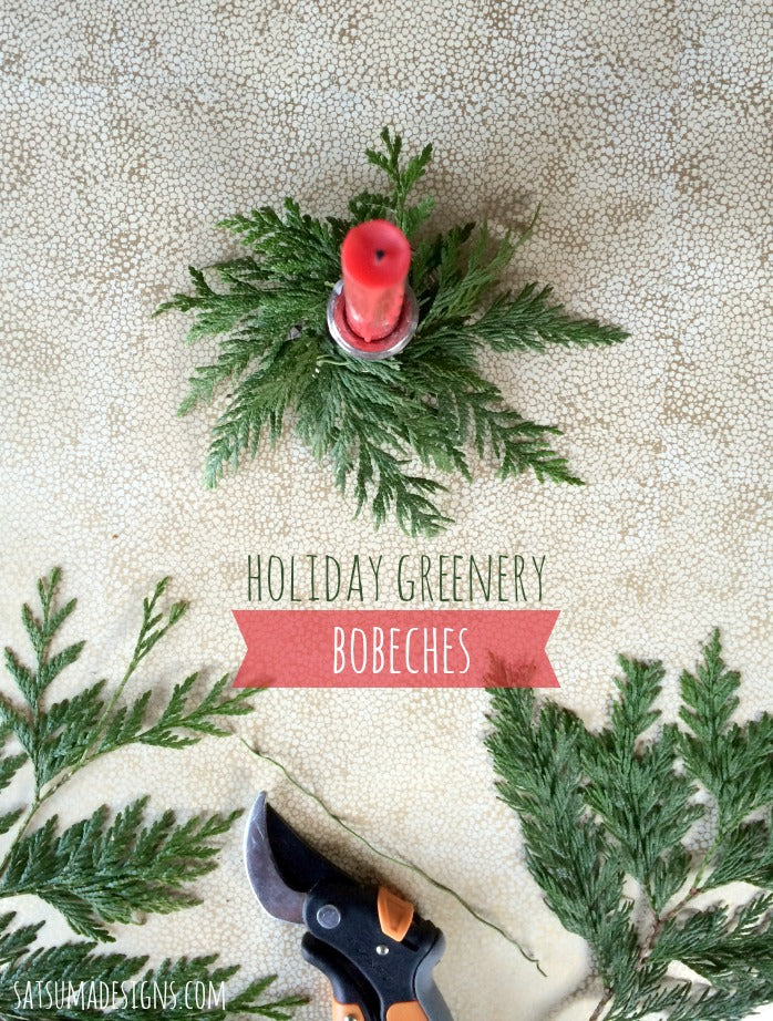 holiday greenery bobeches