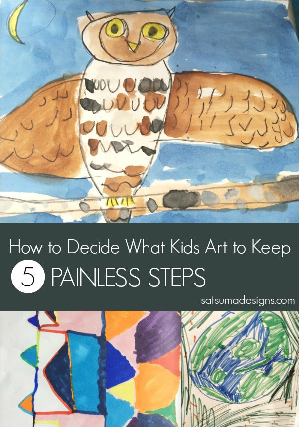 how to decide what kids art to keep