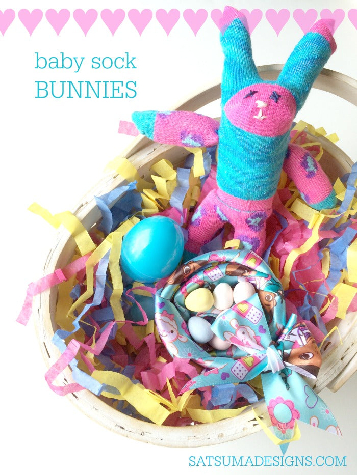how to make baby sock bunnies