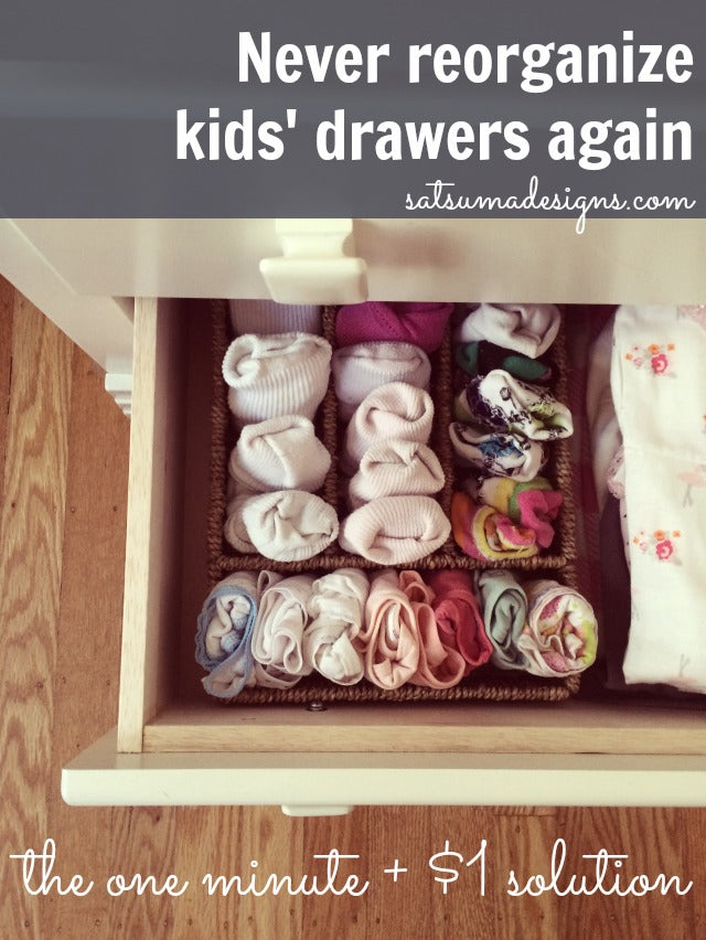 how to organize kids drawers