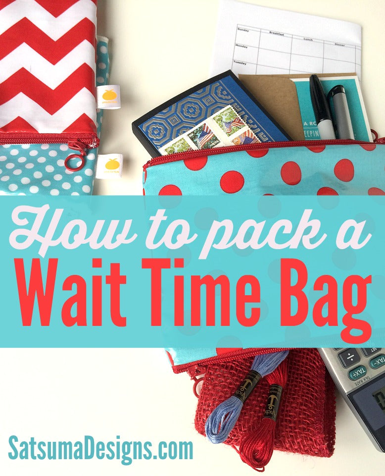 how to pack a wait time bag