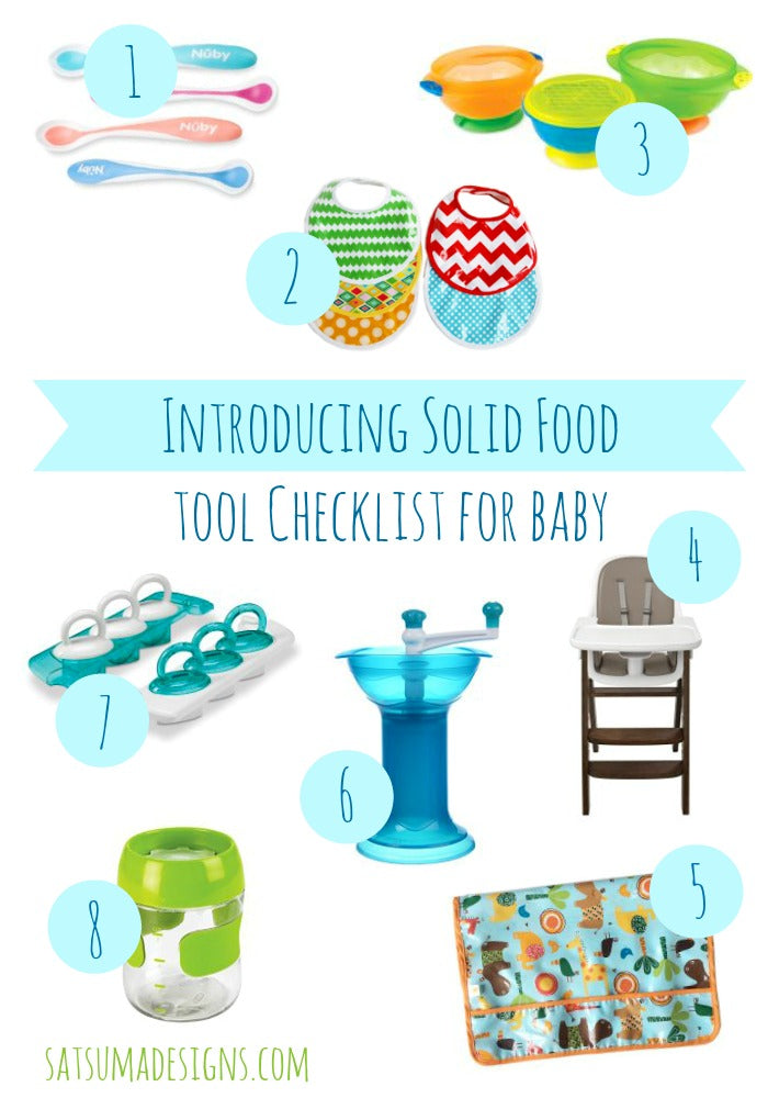 introducing solid food to baby checklist