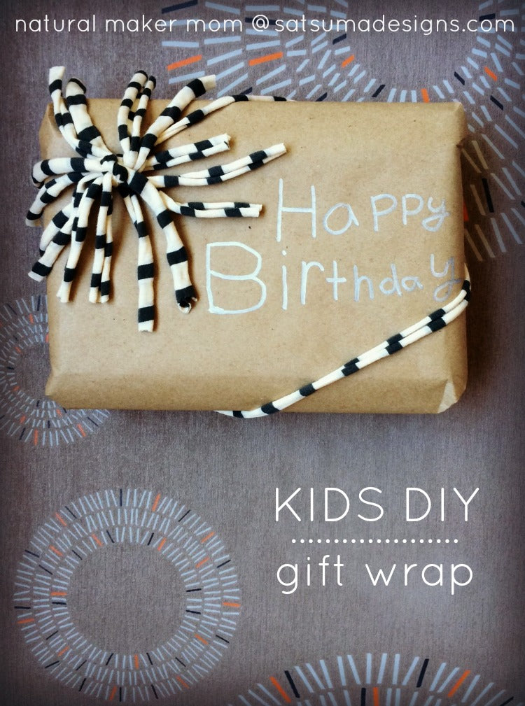 kids diy gift wrap