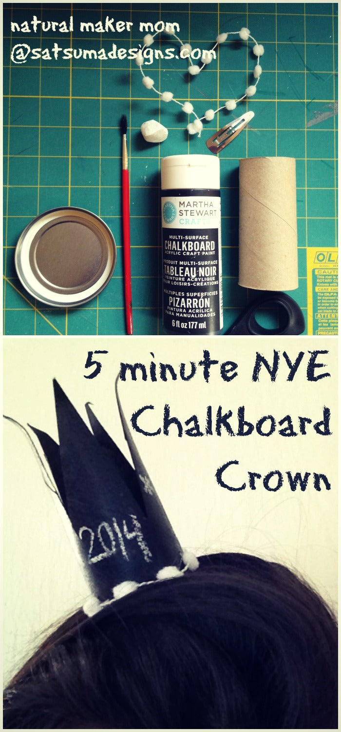 nye chalkboard crown tutorial