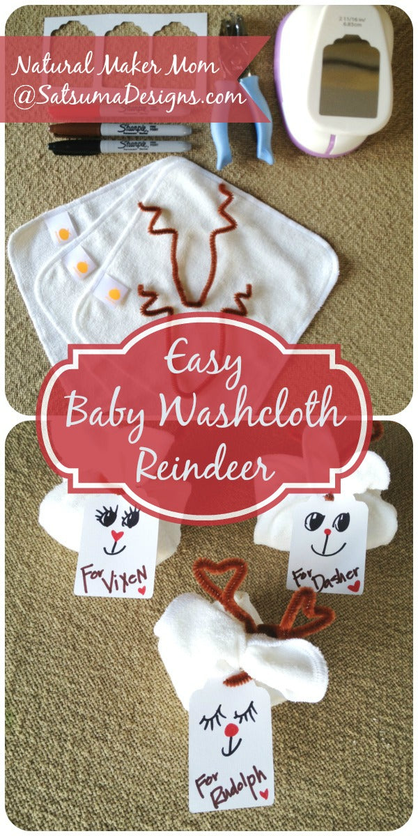 cutest baby washcloth reindeer stocking stuffers