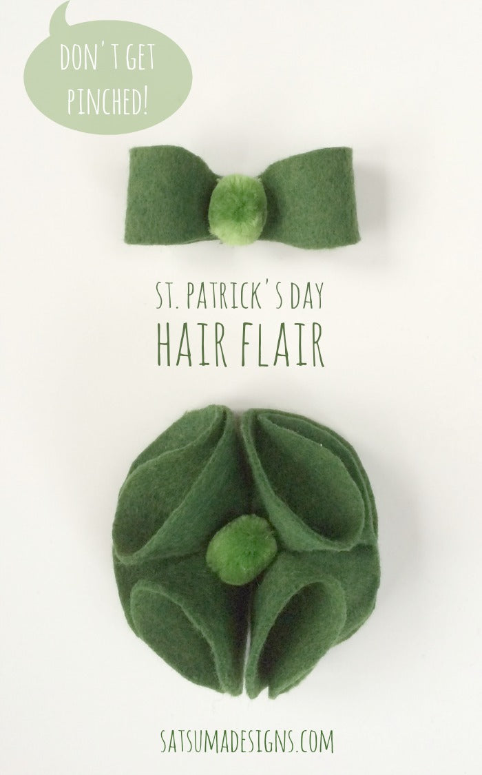 st. patricks day shamrock barrette