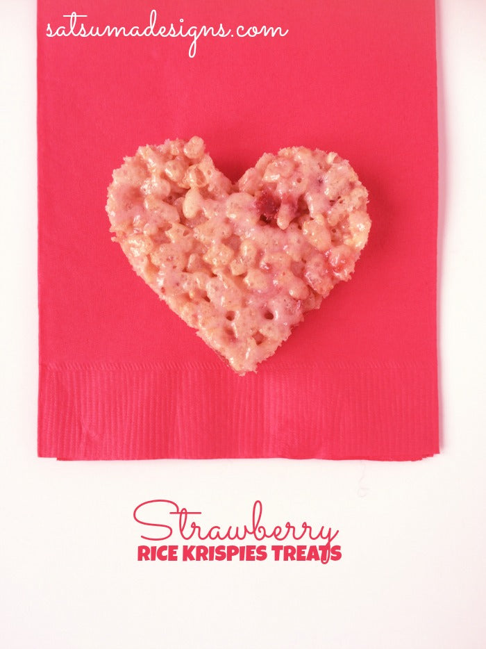 pink strawberry rice krispies treats