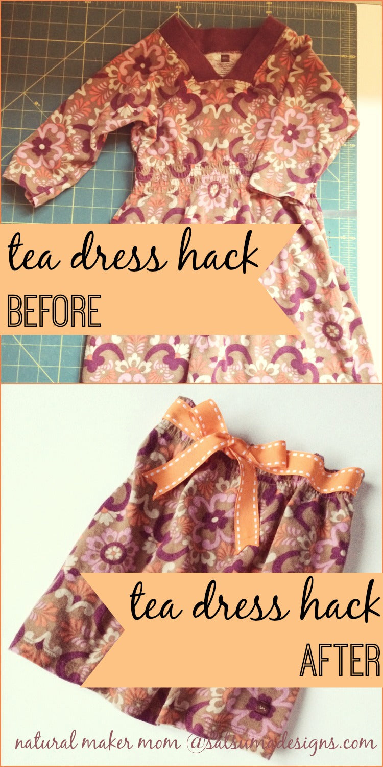 tea collecton dress hack before and after