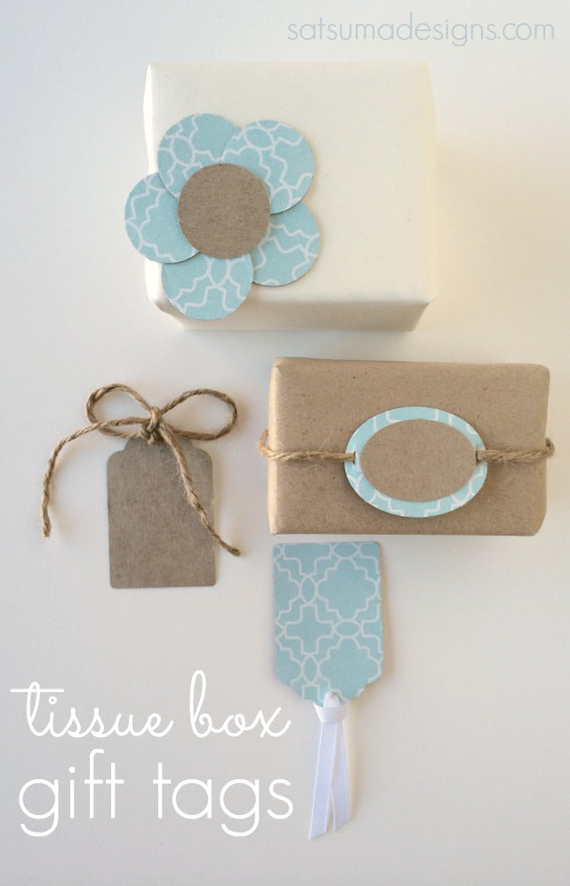 tissue box gift tags