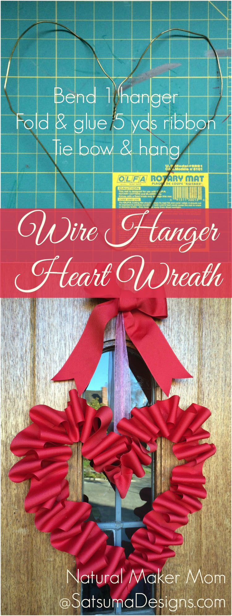wire hanger heart wreath