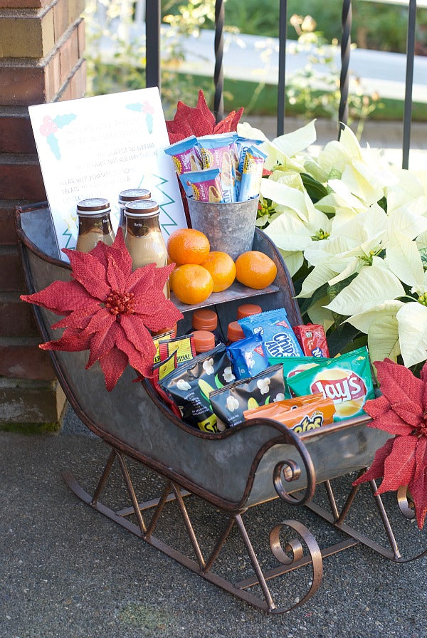 Make someone happy! Set up my delivery driver holiday treat station this season. Share your gratitude with those who serve us all year and especially during the busy shipping season! #holiday #printable #ups #usps #fedex #dhl #amazonprime #treatstation #snackstation #comfortstation #satsumadesigns #blackfriday #cybermonday