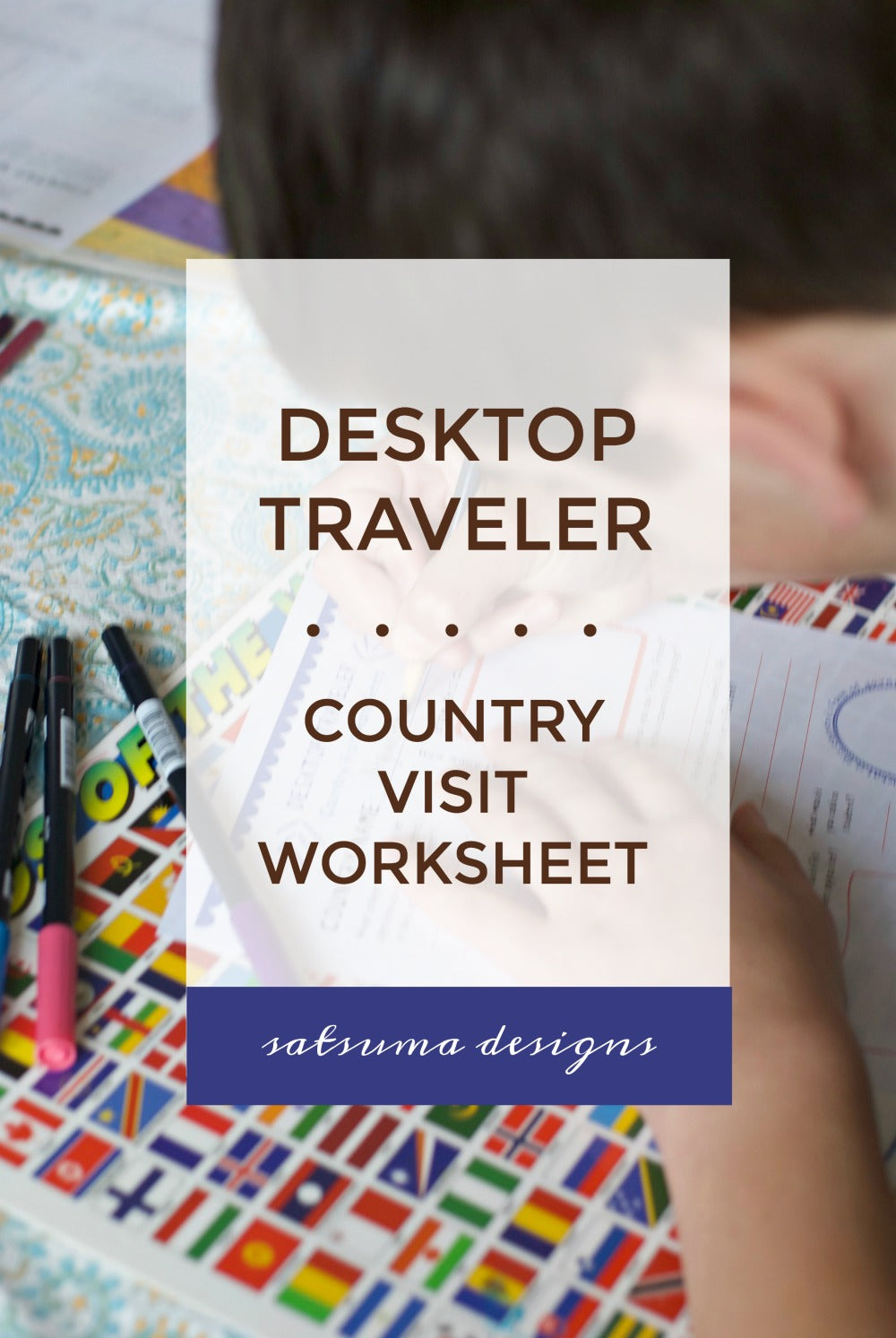 Desktop traveler country visit worksheet | take a trip around the world with my worksheet for older elementary school and middle school students #worksheets #internationaltravel #familytravel #homeschool #classroom #worksheet #printable #satsumadesigns