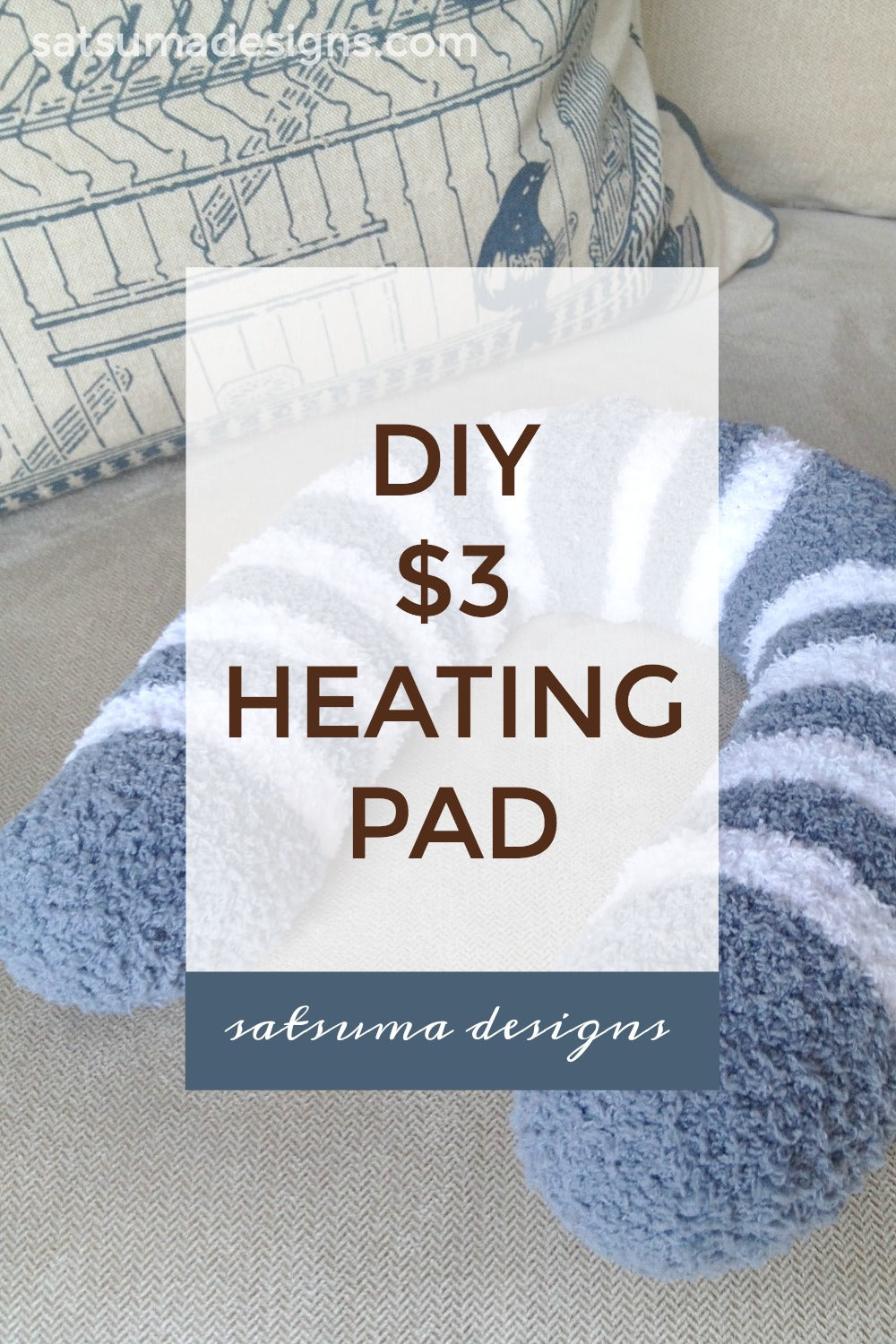 sew a cozy heat pad for $3 in 10 minutes natural maker mom at satsuma designs DIY $3 heating pad | Easy to make heating pad with $3 dollar store supplies #spa #relax #zen #spaday #athomespa #retreat #calm #meditate