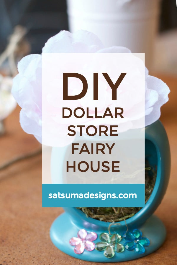 Click through to find out how to make my cute and durable fairy house to welcome fairies to your yard all year | Fairy house magic | SatsumaDesigns.com #fairyhouse #fairyhouses
