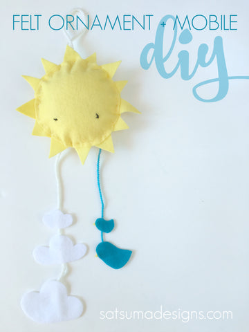 diy felt ornament and mobile