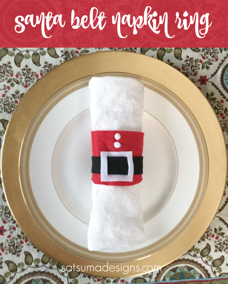 diy felt santa belt napkin rings