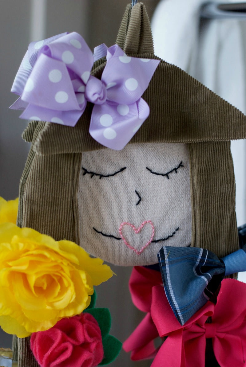 DIY Hair Bow Storage Doll