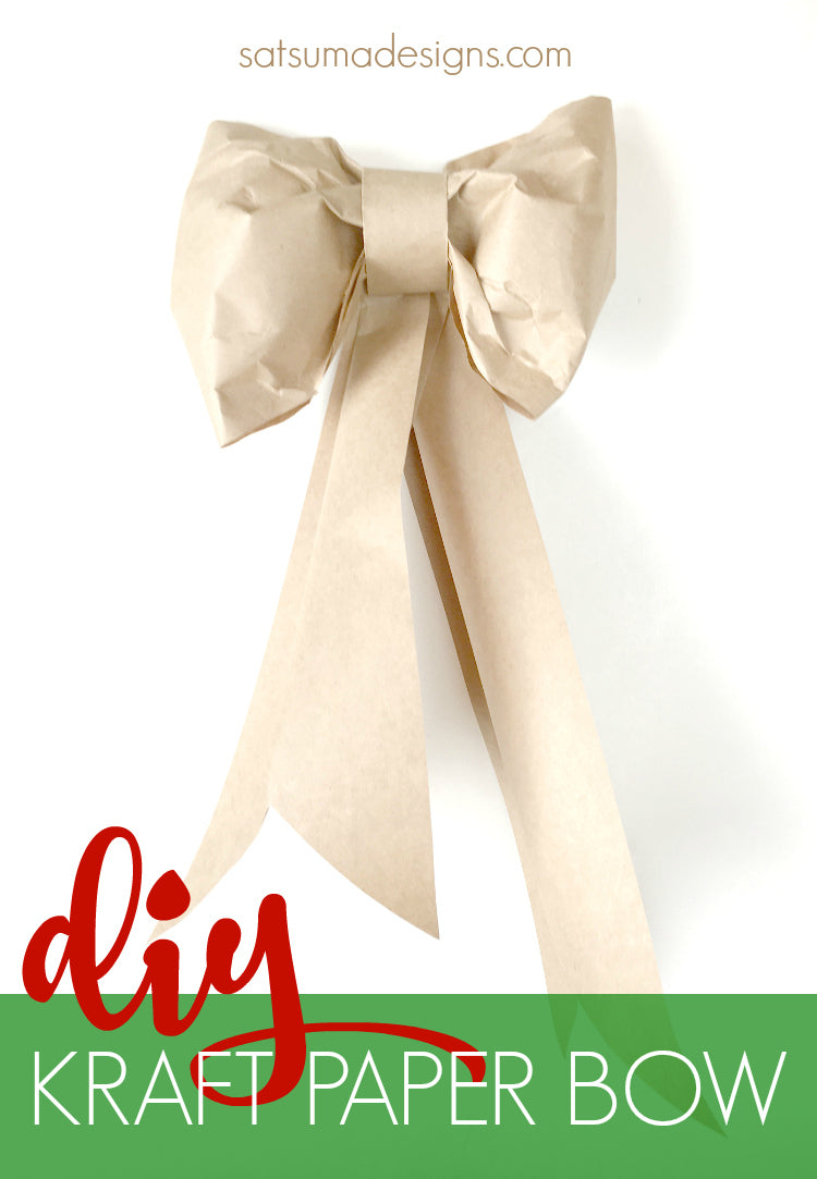 diy large paper bow pin