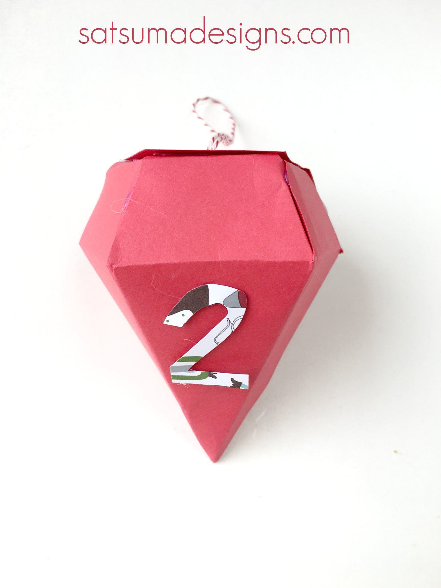 diy diamond advent calendar | SatsumaDesigns.com #advent #holiday #Christmas