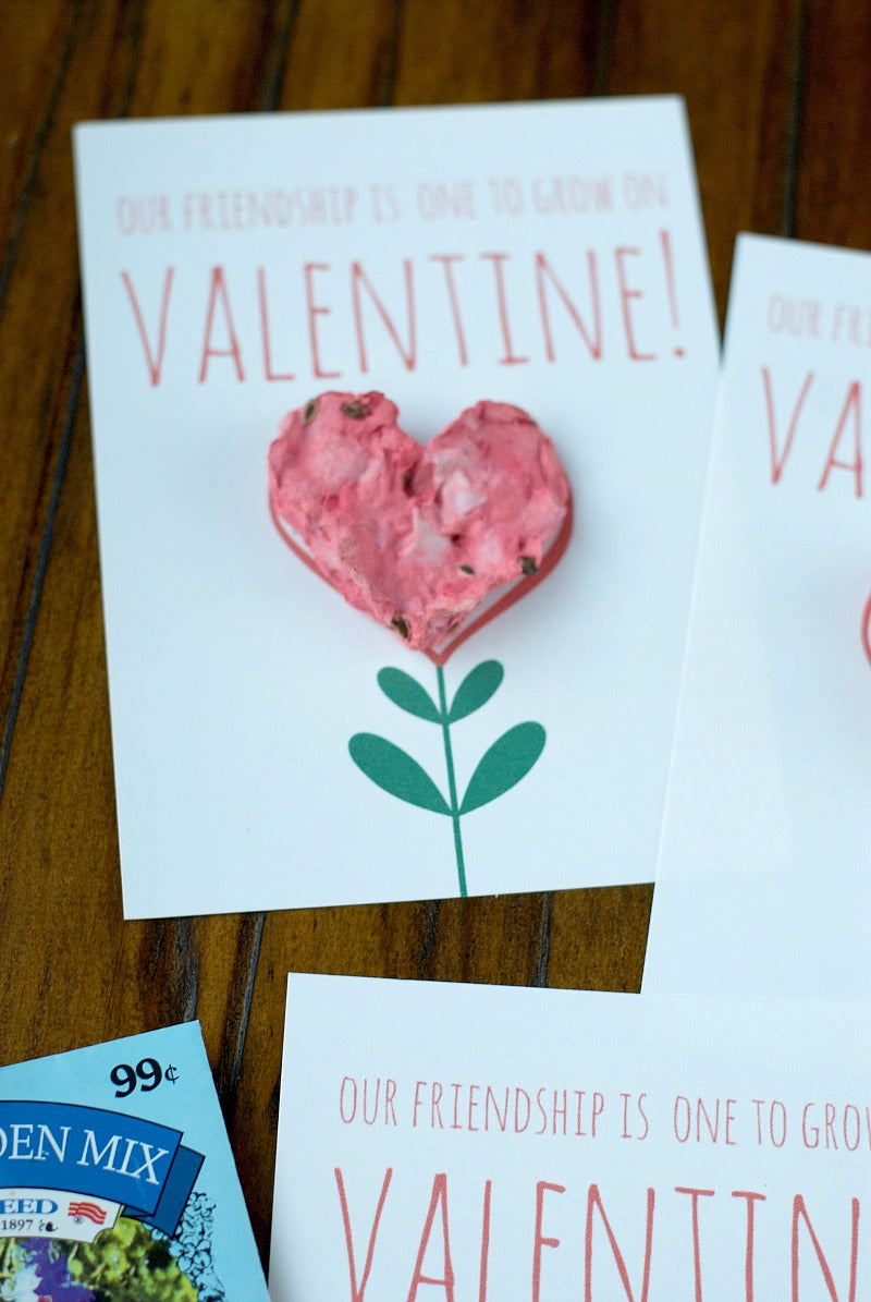 DIY seed paper hearts