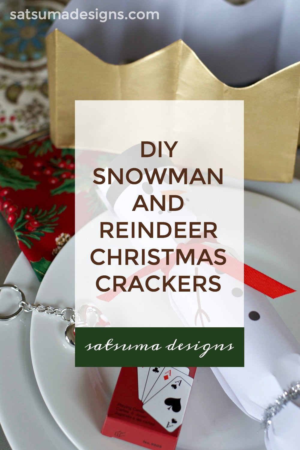 Diy Snowman And Reindeer Christmas Crackers With Free Printables Satsuma Designs