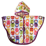 baby poncho russian dolls print