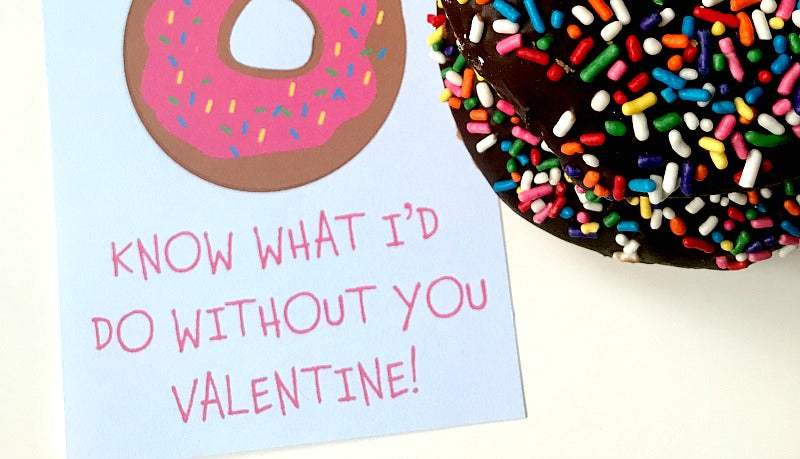 Donut know what I'd do without you Valentine | Valentine cards | SatsumaDesigns.com #valentinesday #valentine
