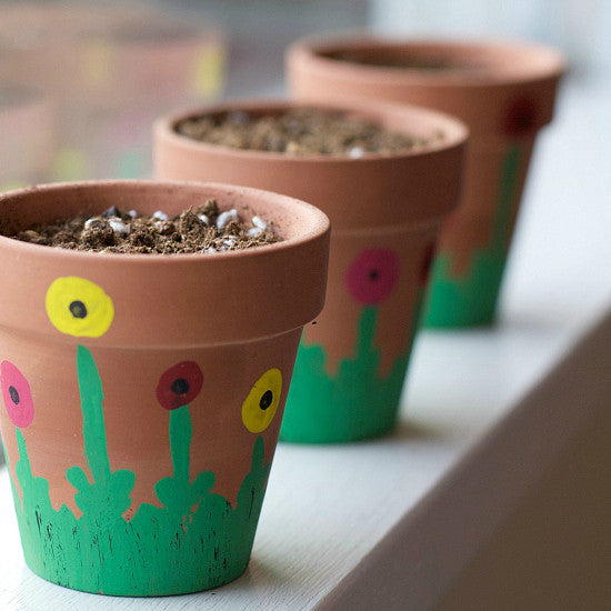 spring painting and potting craft