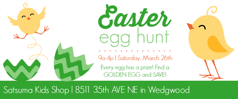 Easter Egg Hunt at Satsuma Kids Shop
