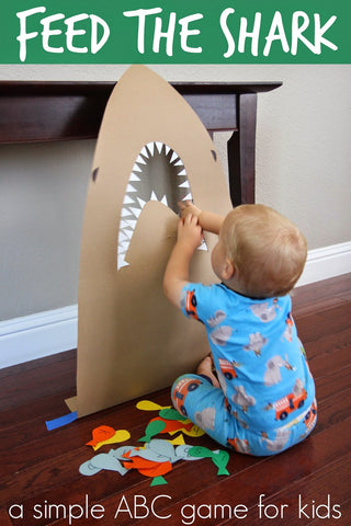 Feed the Shark DIY Toddler Game for Shark Week