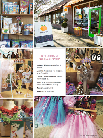 gift shop magazine featuring satsuma kids shop
