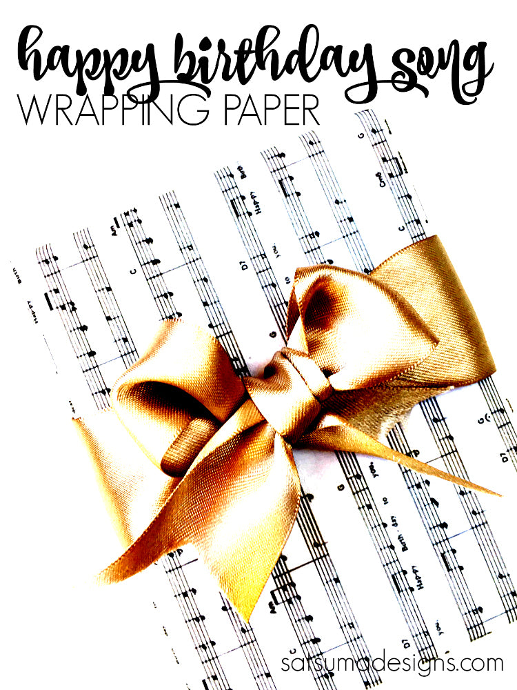 DIY Happy Birthday Song Gift Wrapping