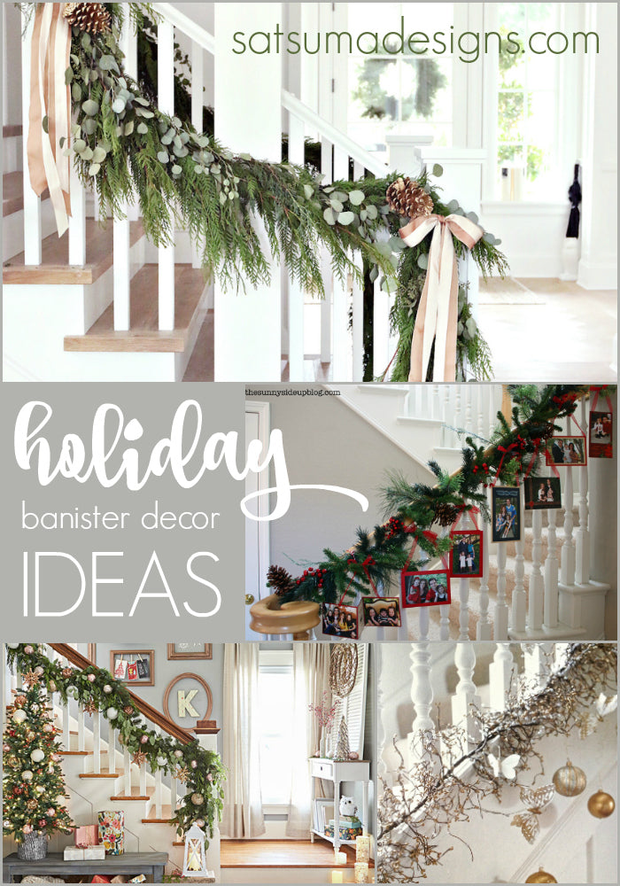 holiday banister decorating ideas