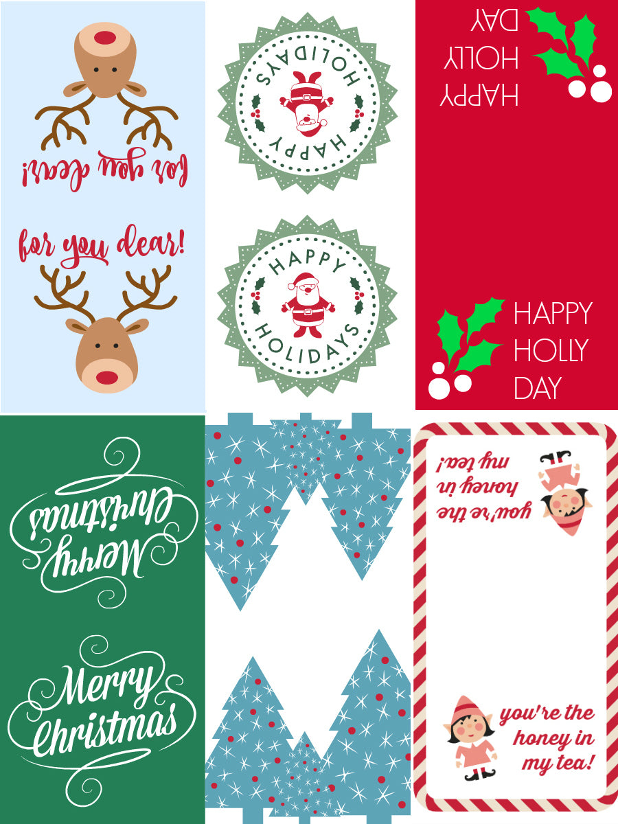 picture regarding Holiday Tags Printable identify Do-it-yourself Vacation Tea Baggage with Cost-free Printable Tea Tags Satsuma