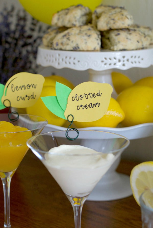 Click through to see how I hosted a lavender and lemon tea party for summer fun | Lavender and Lemon | Baby shower ideas | Wedding shower ideas | SatsumaDesigns.com #lavender #lemon #partyplanning