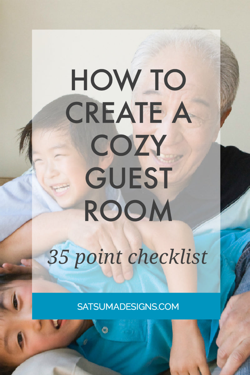 how to create a cozy guest room