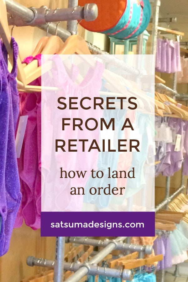 how to land a wholesale order | secrets from a retailer