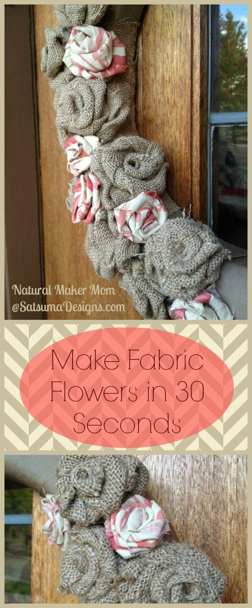 How to make fabric flowers in 30 seconds #fabric #upcycle #crafting