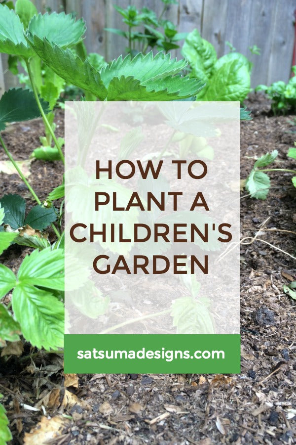 Click through to see How To Plant a Children's Garden for success | Veggie patch plants | Gardening for kids | SatsumaDesigns.com #garden #kids