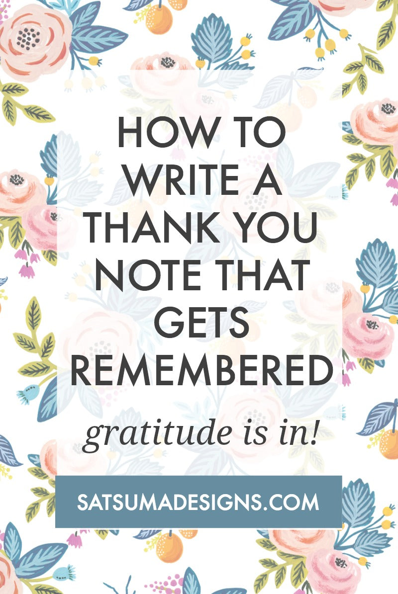 how to write a thank you note that gets remembered