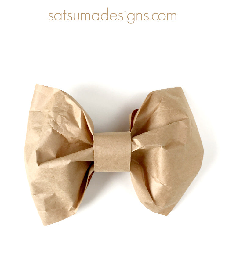 diy large paper bow