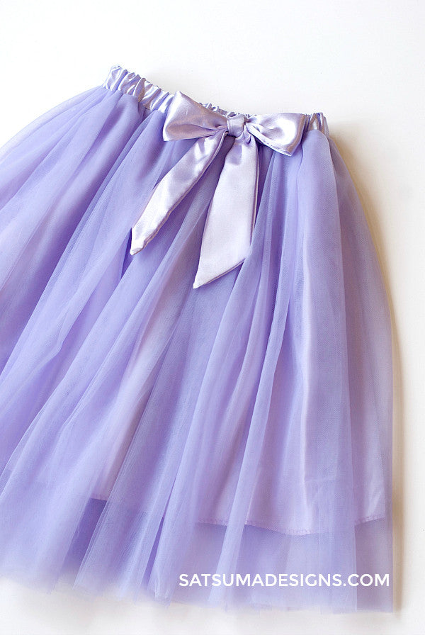 lilac tulle skirt for girls