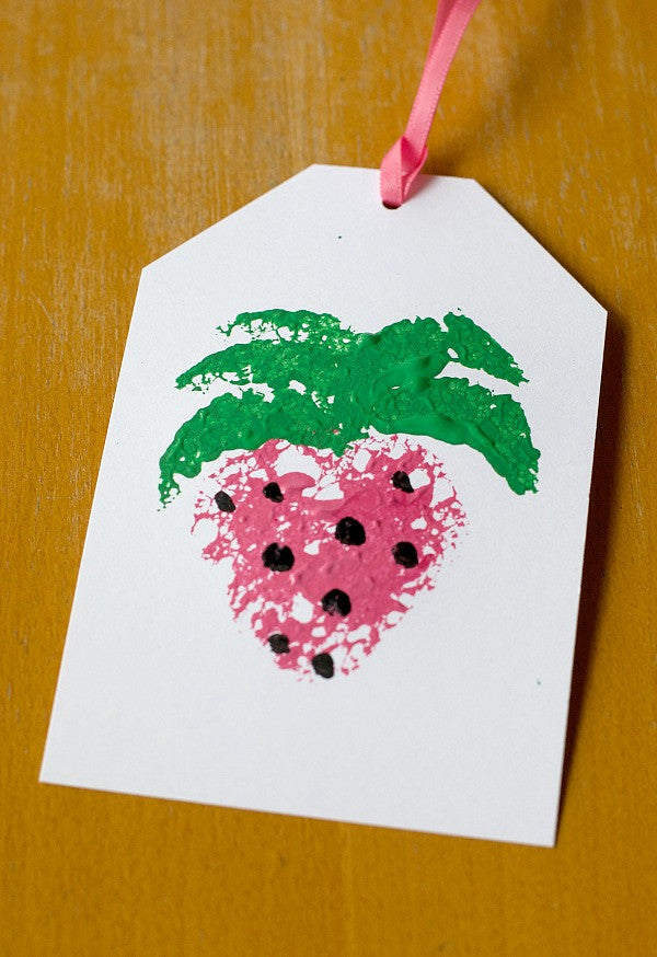diy summer fruit gift tag