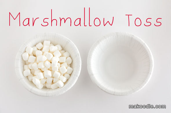 marshmallow toss game