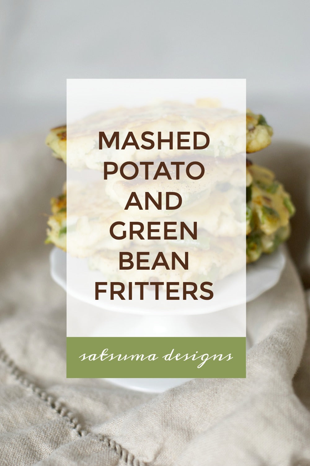 Mashed potato and green bean fritter recipe. This is a perfect solution to left over mashed potatoes and makes a delicious side dish or afternoon snack. Even pair these with a fried egg for a yummy breakfast! #fritters #recipes #mashedpotatos #greenbeans #dinnerrecipes