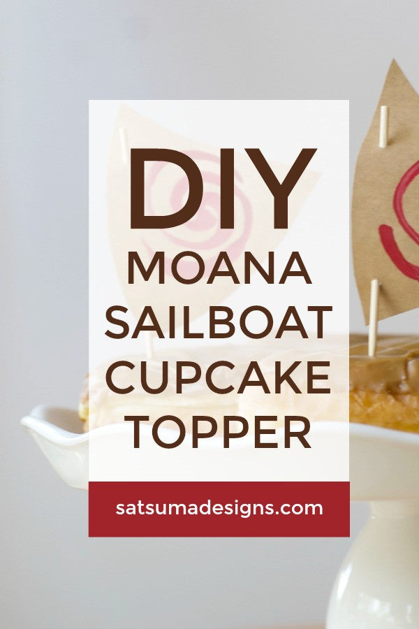 photo relating to Moana Sail Printable called Moana Sailboat Cupcake Toppers Satsuma Options