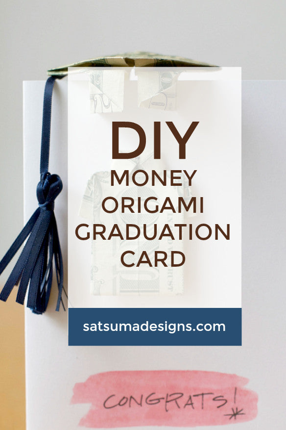 money origami graduation card