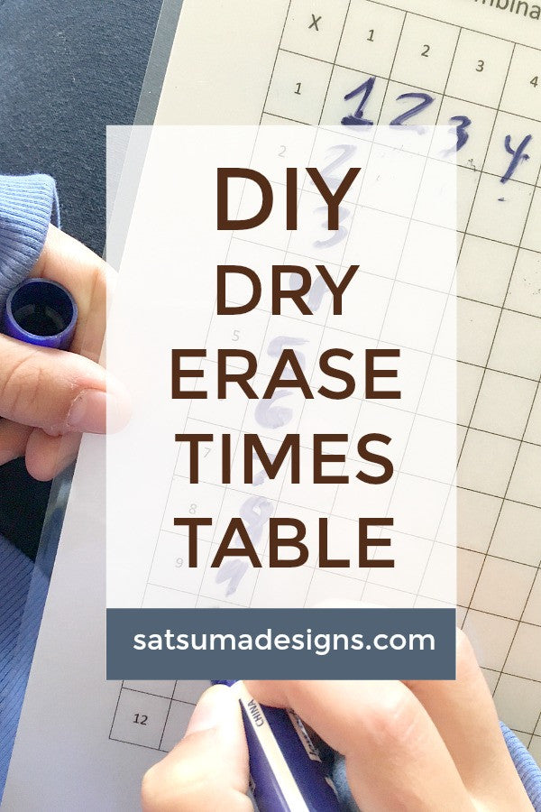 diy dry erase multiplication table